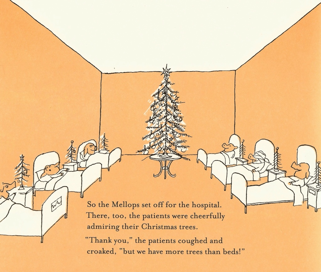 Christmas Eve at the Mellops by Tomi Ungerer | tygertale
