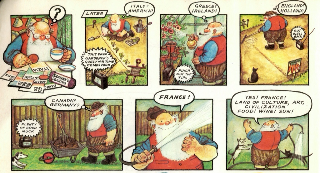 Father christmas goes on holiday by raymond briggs tygertale have reindeer will travel seems to be fcs raison dtre not that his french is that good and as he waits for next years christmas letters to arrive he spiritdancerdesigns Gallery