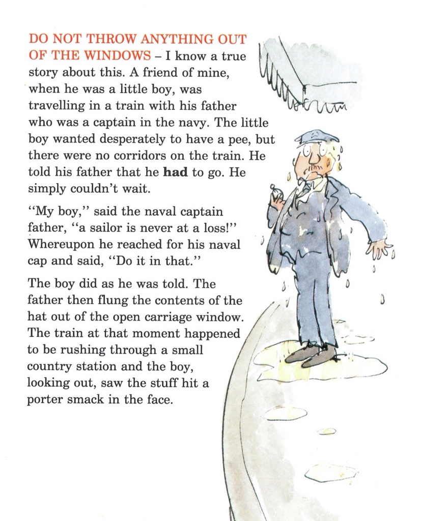 Roald Dahl And Quentin Blake S Guide To Railway Safety Tygertale