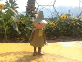 Paper Moomins at the EdenProject