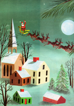 The Night Before Christmas - illustrated by Leonard Weisgard (1949).