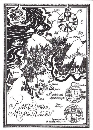 Map of Moomin Valley by Tove Jansson