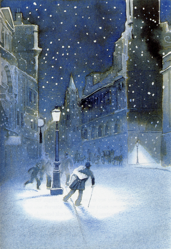 christmas-crime-stories-the-folio-society-london-2004-michael-foreman-illustration